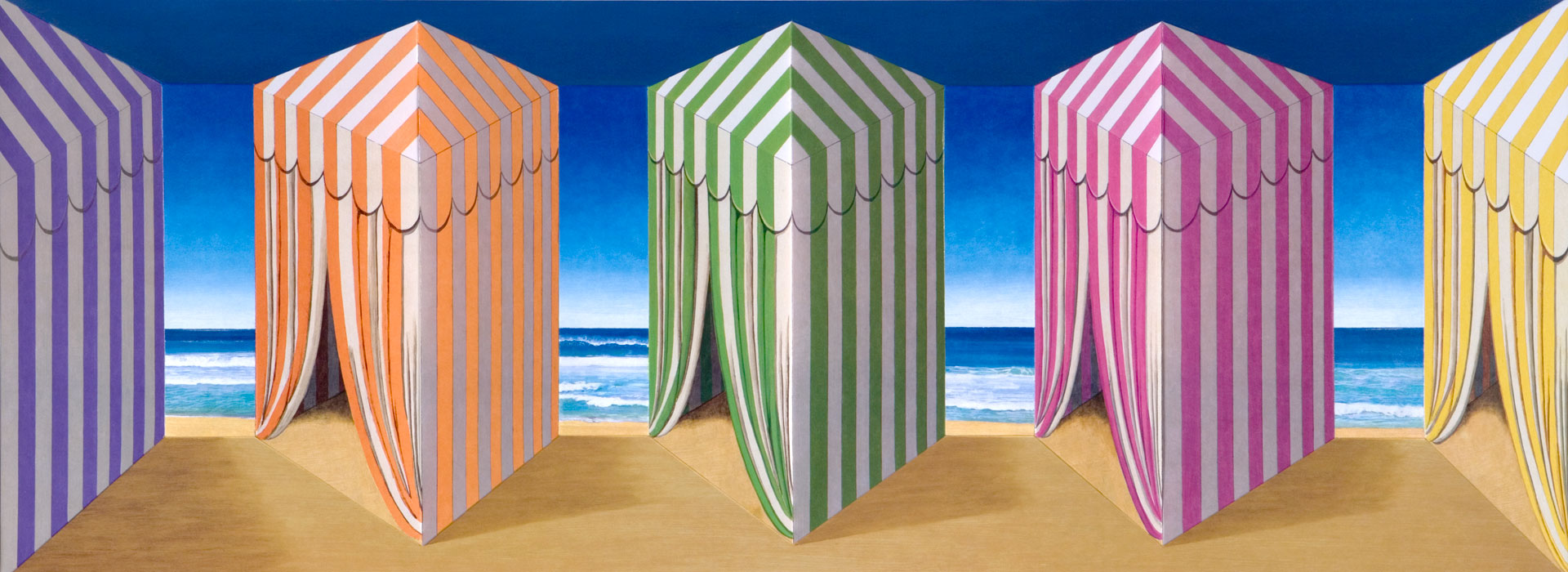 In Tents <p>2005 | Edition 45 | 44.5 x 96 x 15 cm / 17½ x 37¾ x 6 in</p>
