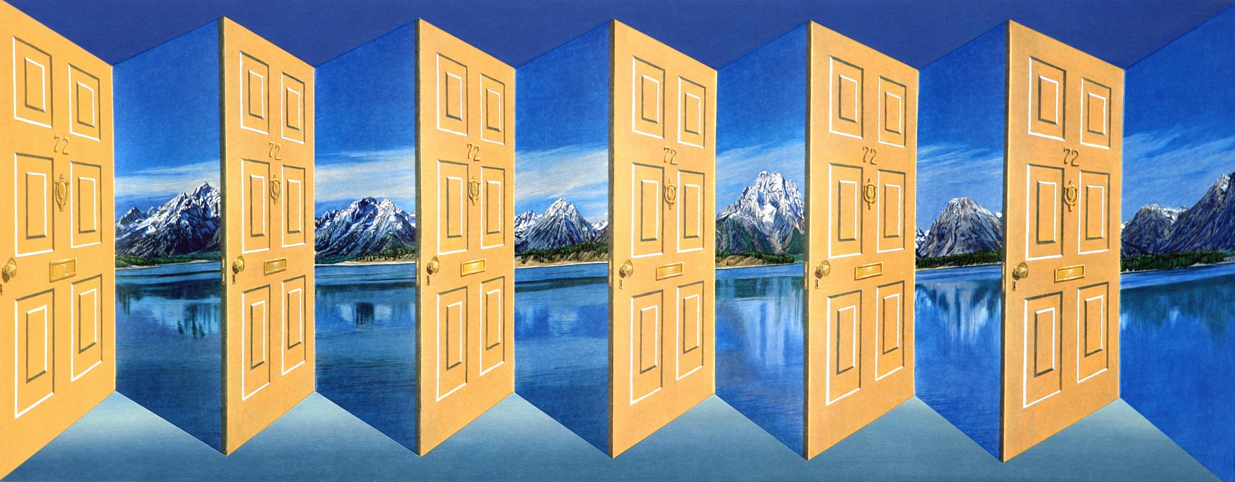 Grand Tetons <p>2006 | Edition 45 | 46.5 x 97 x 14.5 cm / 18¼ x 38¼ x 5¾ in</p>
