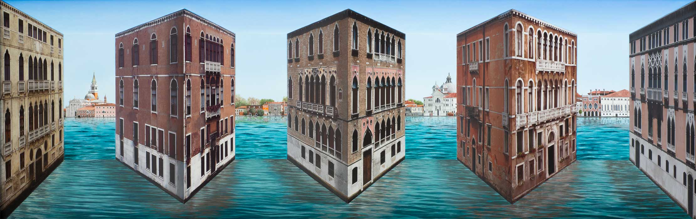 Floating Palazzi <p>2015 | Edition 5 | 51 x 156 x 21 cm / 20 x 61½ x 8¼ in</p>