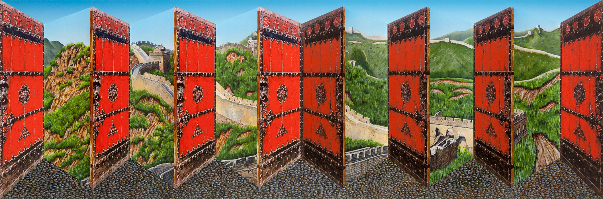Great Wall <p>2016 | Edition 50 | 46 x 113 x 16 cm / 18¼ x 44½ x 6¼ in</p>