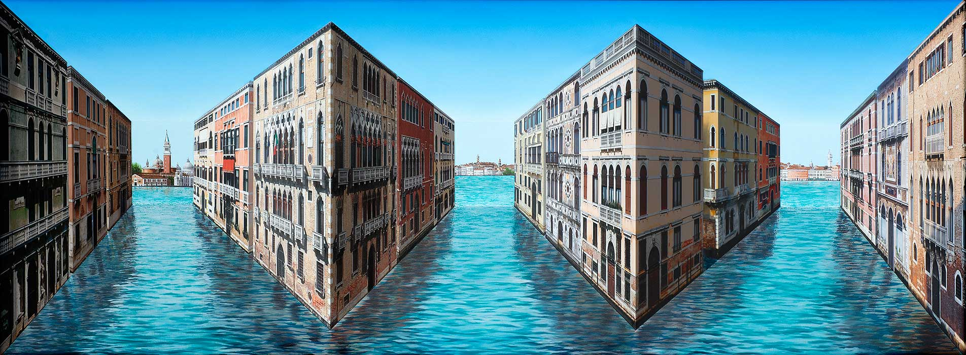 Venice Views <p>2015 | Edition 5 | 75 x 173 x 26 cm / 29.5 x 68 x 10 in</p>
