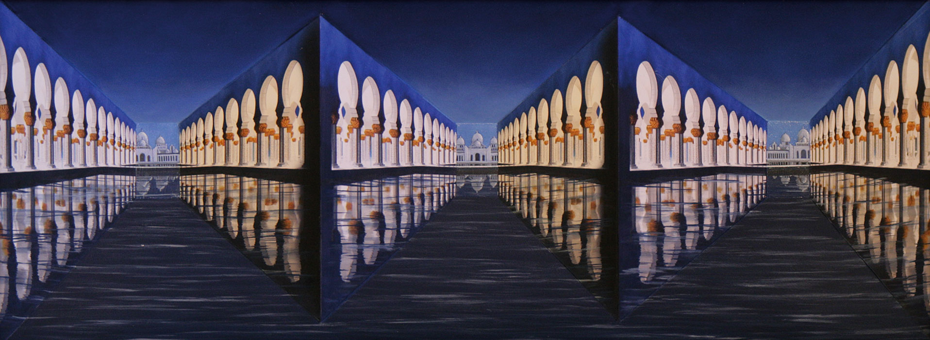 Colonnades in Moonlight <p>2005 | Edition 3 | 47 X 94 X 12 cm / 18½ x 37 x 4¾ in</p>