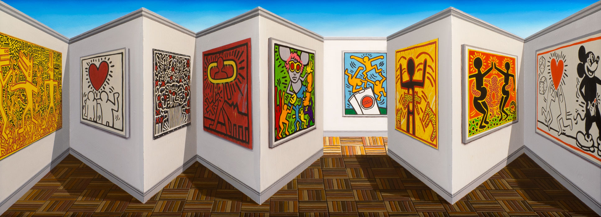 Sharing Haring <p>2014 | 50 X 104 X 13 cm / 20 x 41 x 5 in</p>