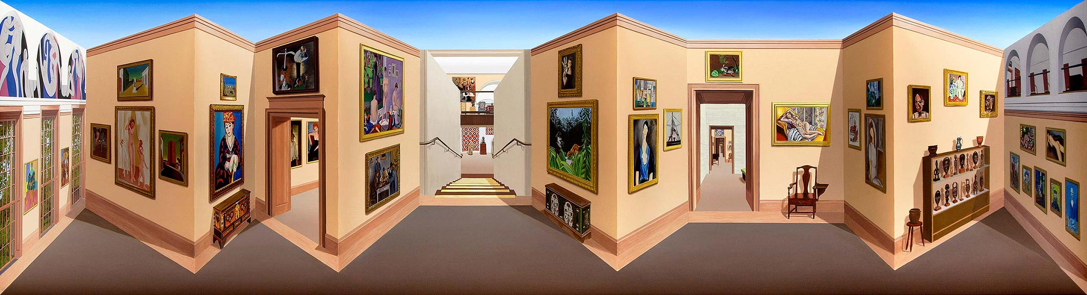 The Barnes Foundation <p>2016 | 60.5 x 160 x 25 cm / 23⅞ x 63 x 9⅞ in</p>